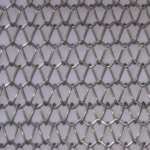 Spiral link metal decorative mesh